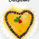 Heart shaped cheesecake (flan de queso)