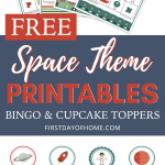 Space themed party printables