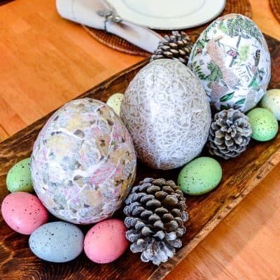 Decoupage eggs for Easter - a tutorial to make your own