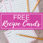 Free recipe cards templates for Pinterest