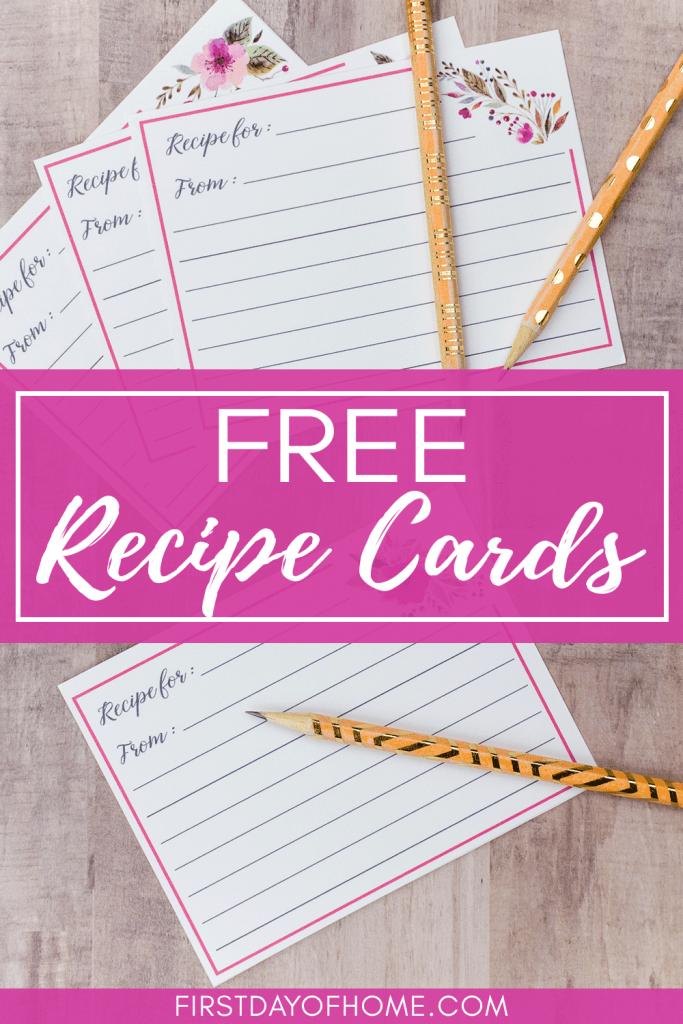 Printable Printable Recipe Recipe Template 3x5 Recipe Card Recipe Recipe Card Printable Card Bridal Shower Recipe Cards