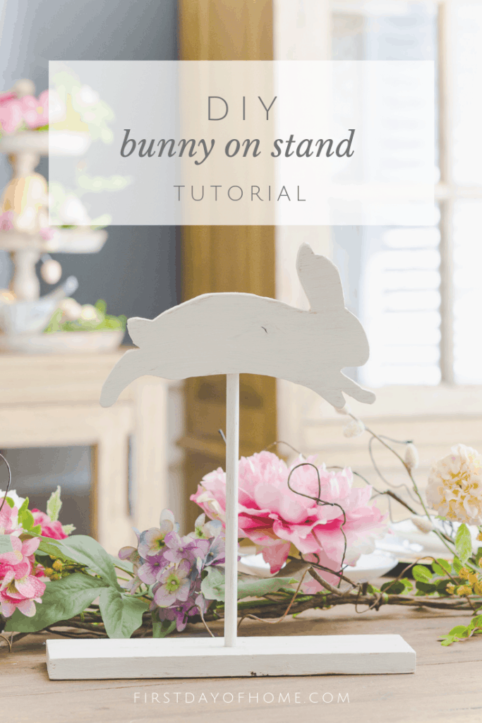 Wooden bunny DIY tutorial using scrap wood and chalk paint