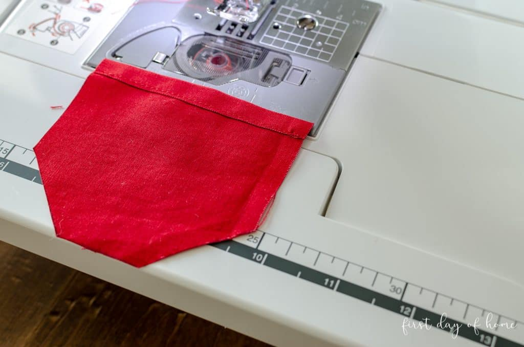Red pocket for tooth fairy pillow pattern