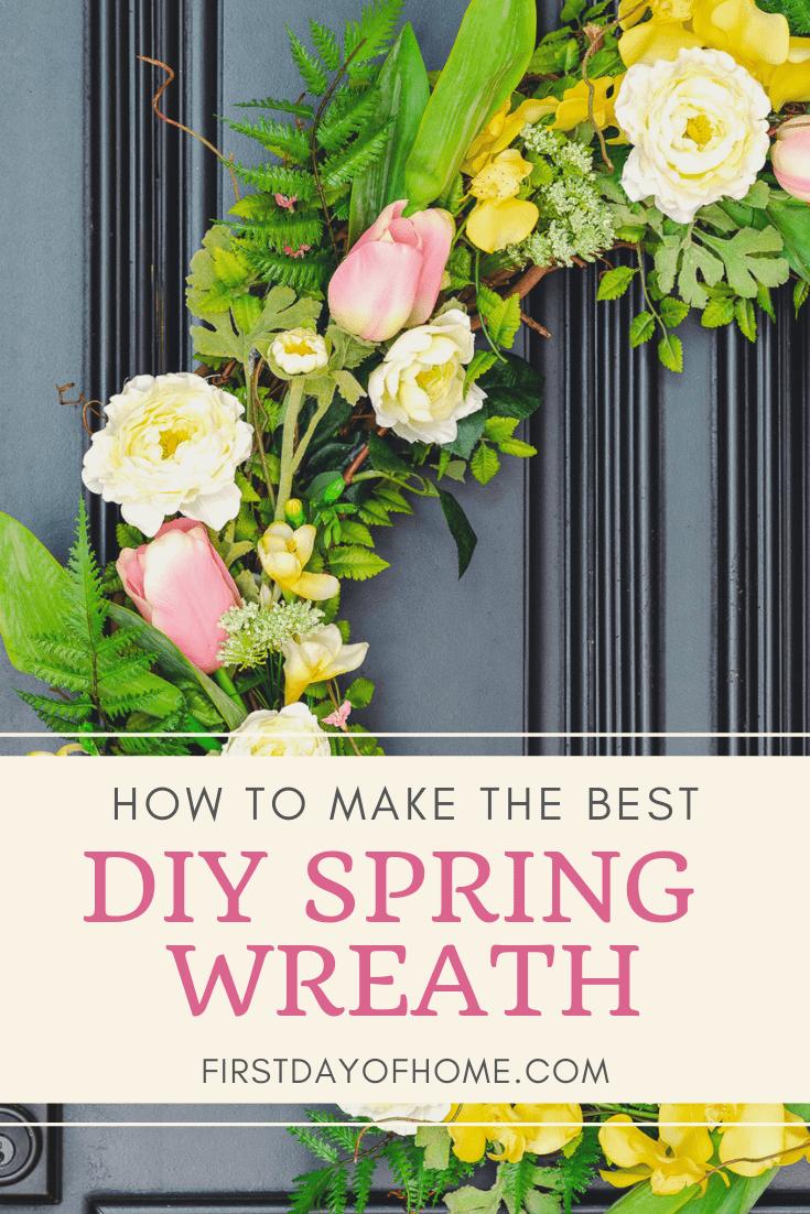 Spring wreath ideas for front door pin