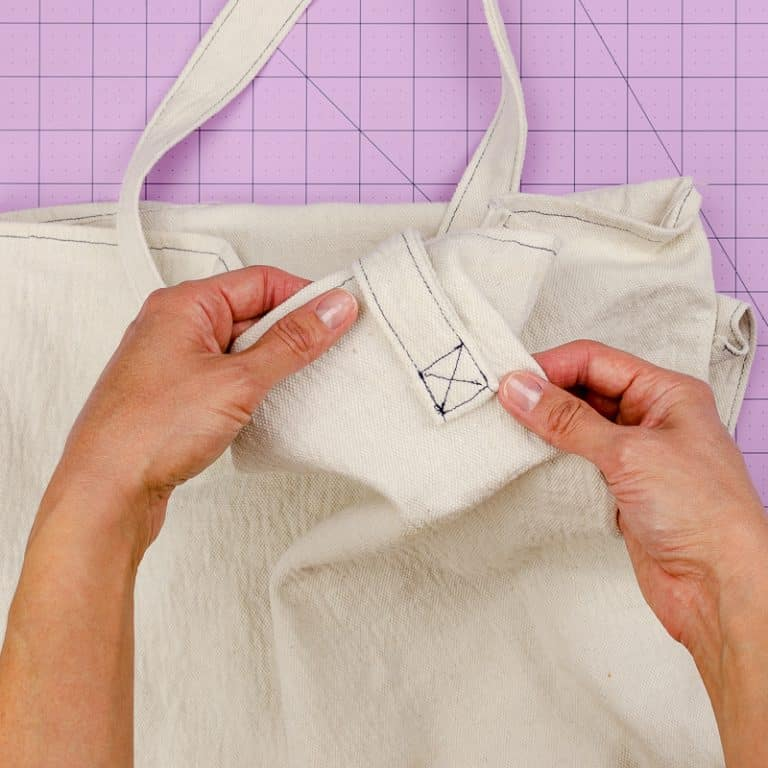How to Sew a Tote Bag (Free Easy Pattern)