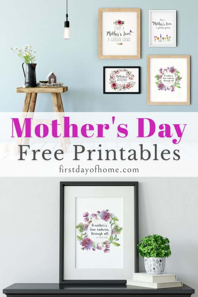 Free Mother's Day printable artwork