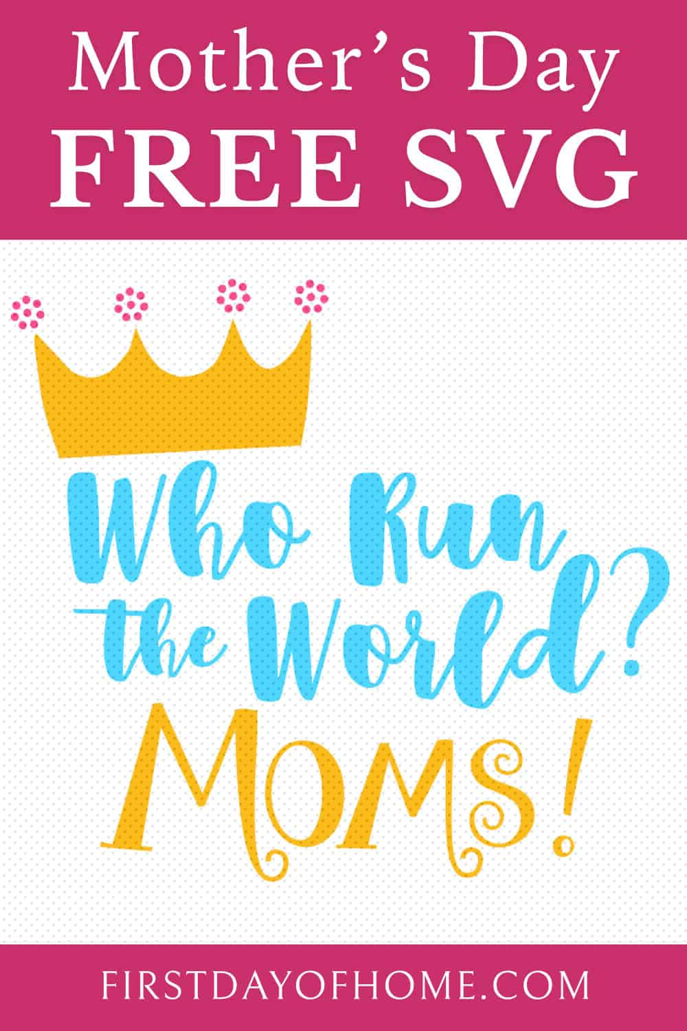 Free SVG file to make a T-shirt for Mother's Day