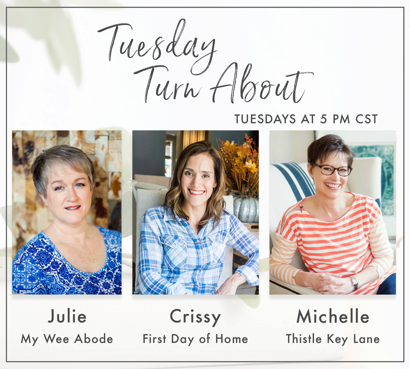 Tuesday Turn About Link Party Hostesses