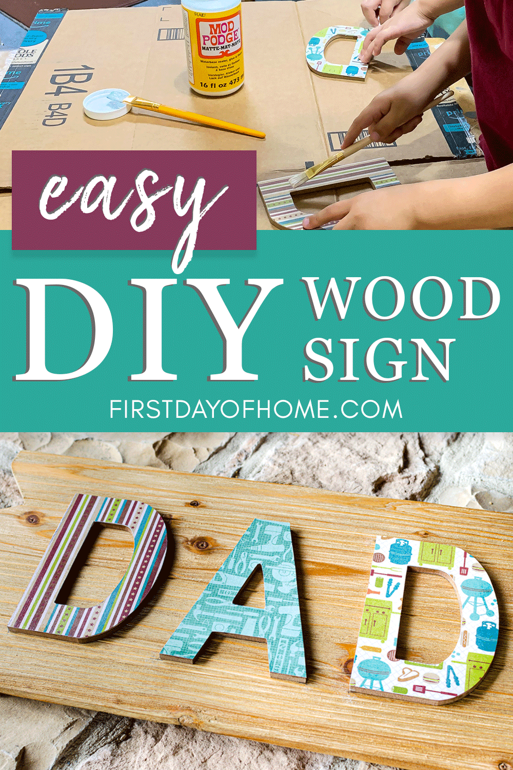 How to Make Decoupage Wood Signs (The Easy Way)