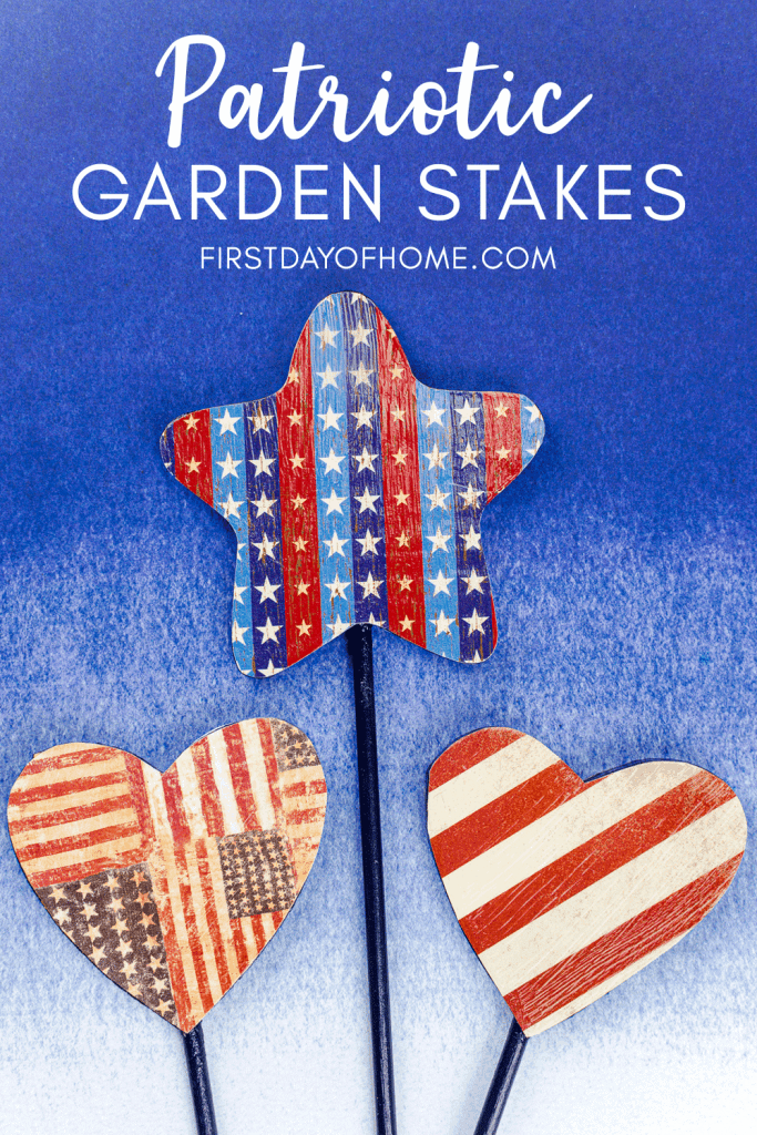Patriotic garden stakes for the 4th of July