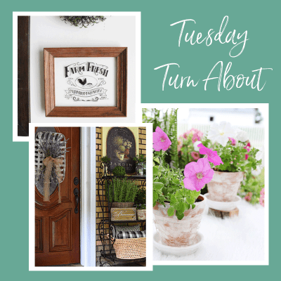 Tuesday Turn About #5: Summer Crafts and a Cottage Style Home Tour