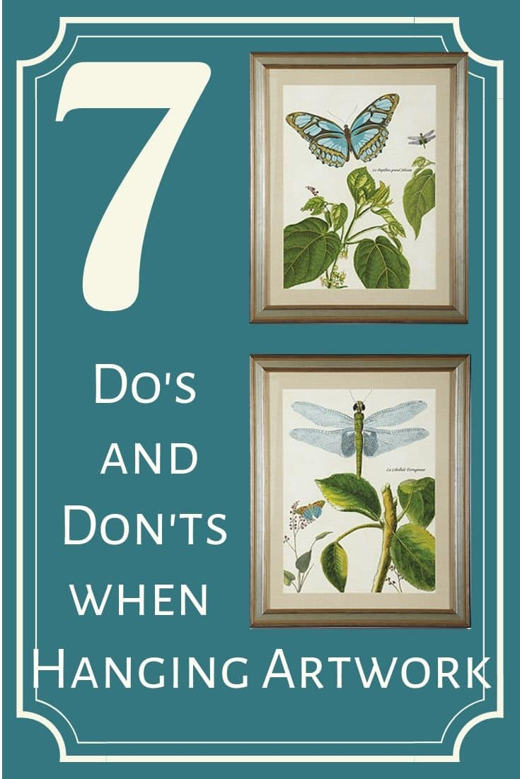 Home decor tips for hanging artwork