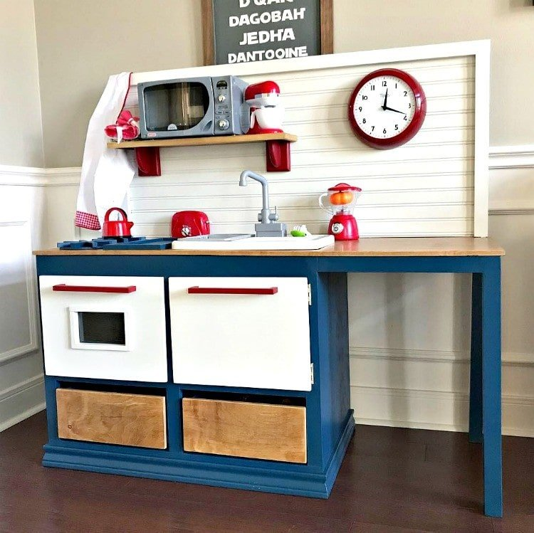 Kids play kitchen with woodworking plans