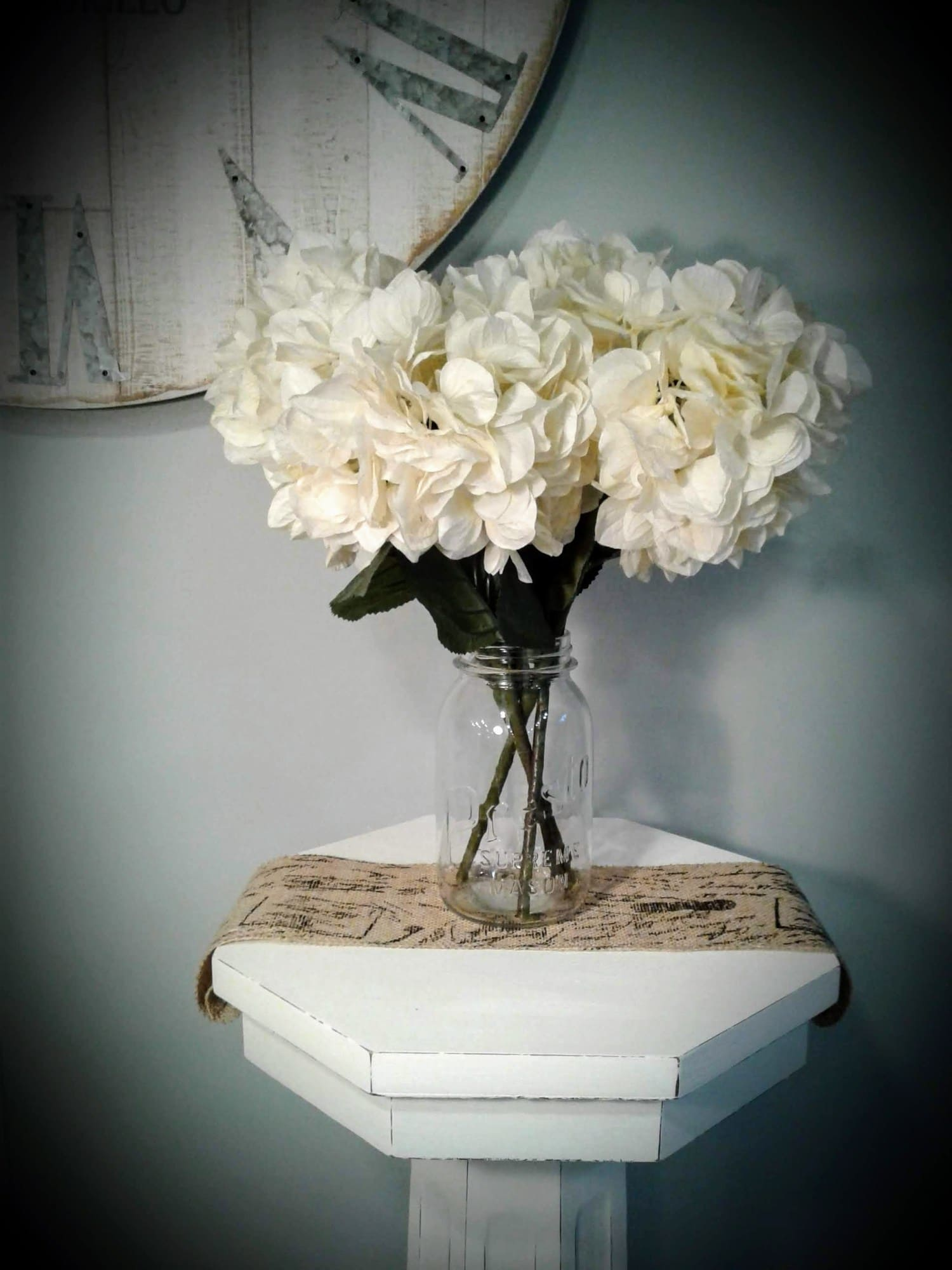 shabby chic style pedestal furniture makeover