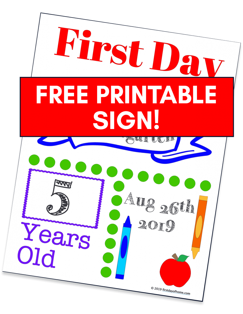 Free printable back to school sign