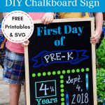 Back to school sign with free printables and SVG files