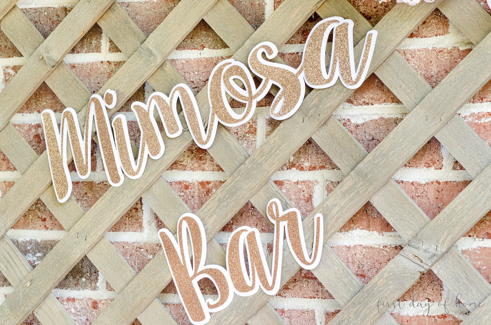 Mimosa bar sign cut with Silhouette Cameo