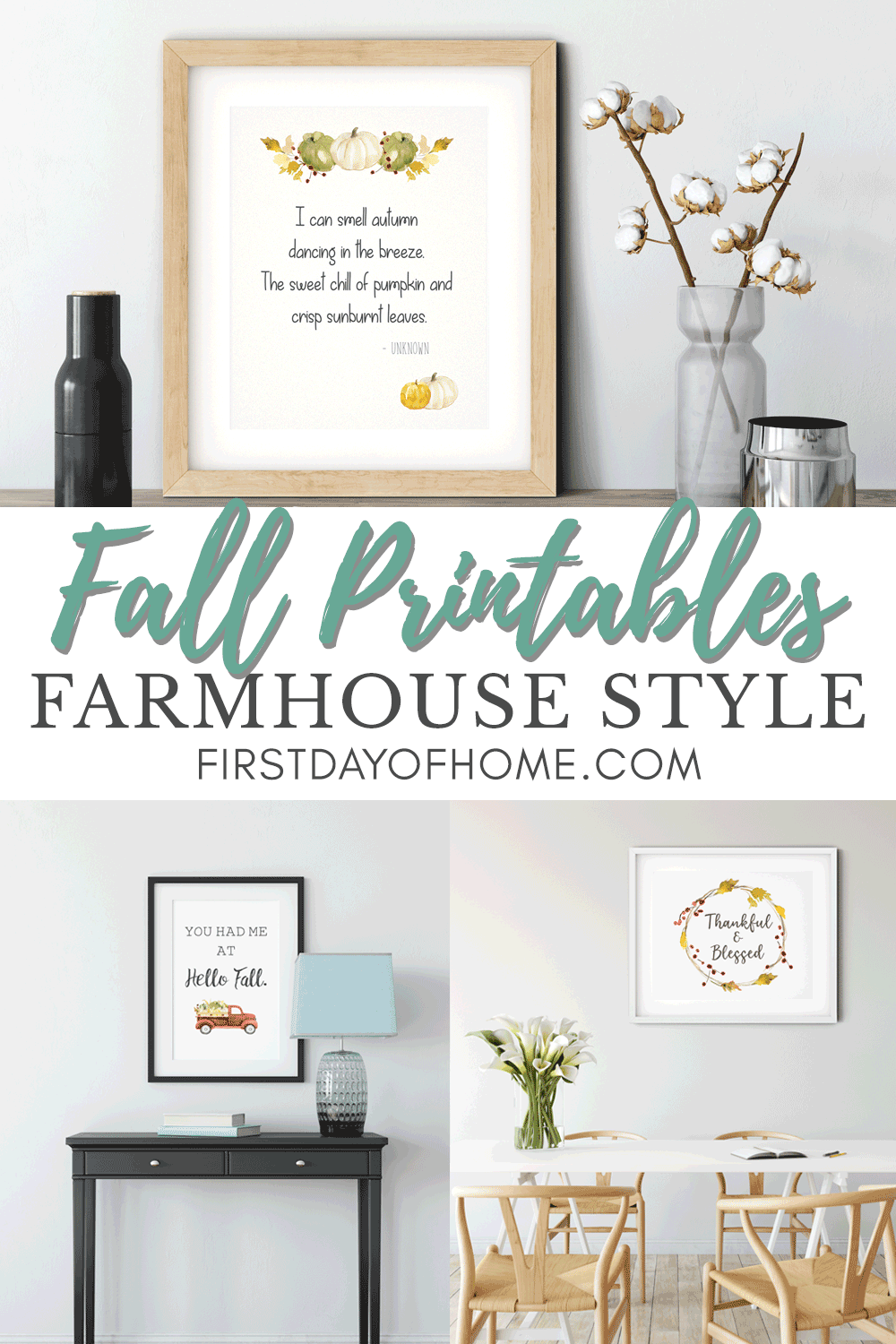 FREE fall printables to decorate the home for fall