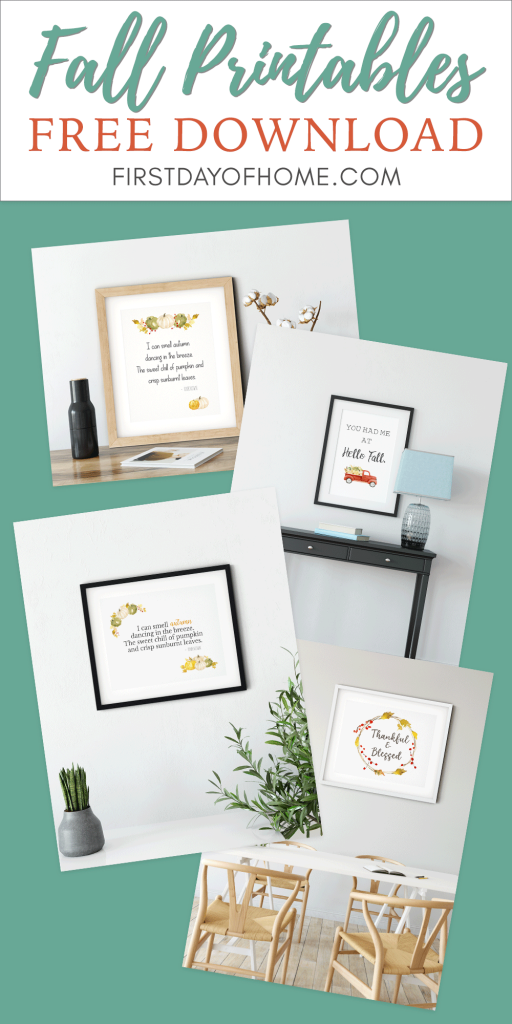 Free fall printables to use for modern farmhouse home decor