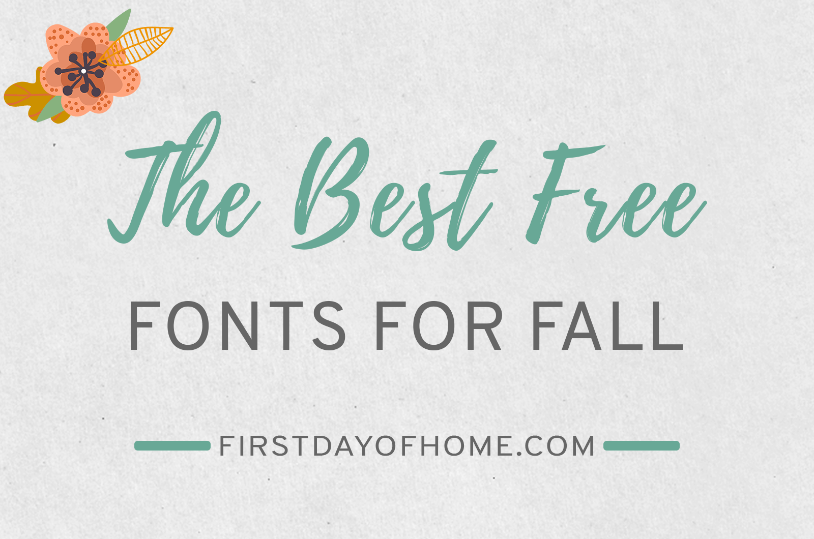 The best free fall fonts you can download