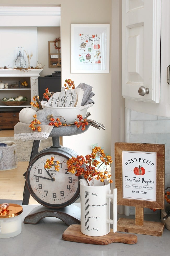 Clean and Scentsible fall kitchen tour