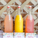 Mimosa bar juices with printable tags