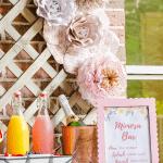 Mimosa bar with printable sign