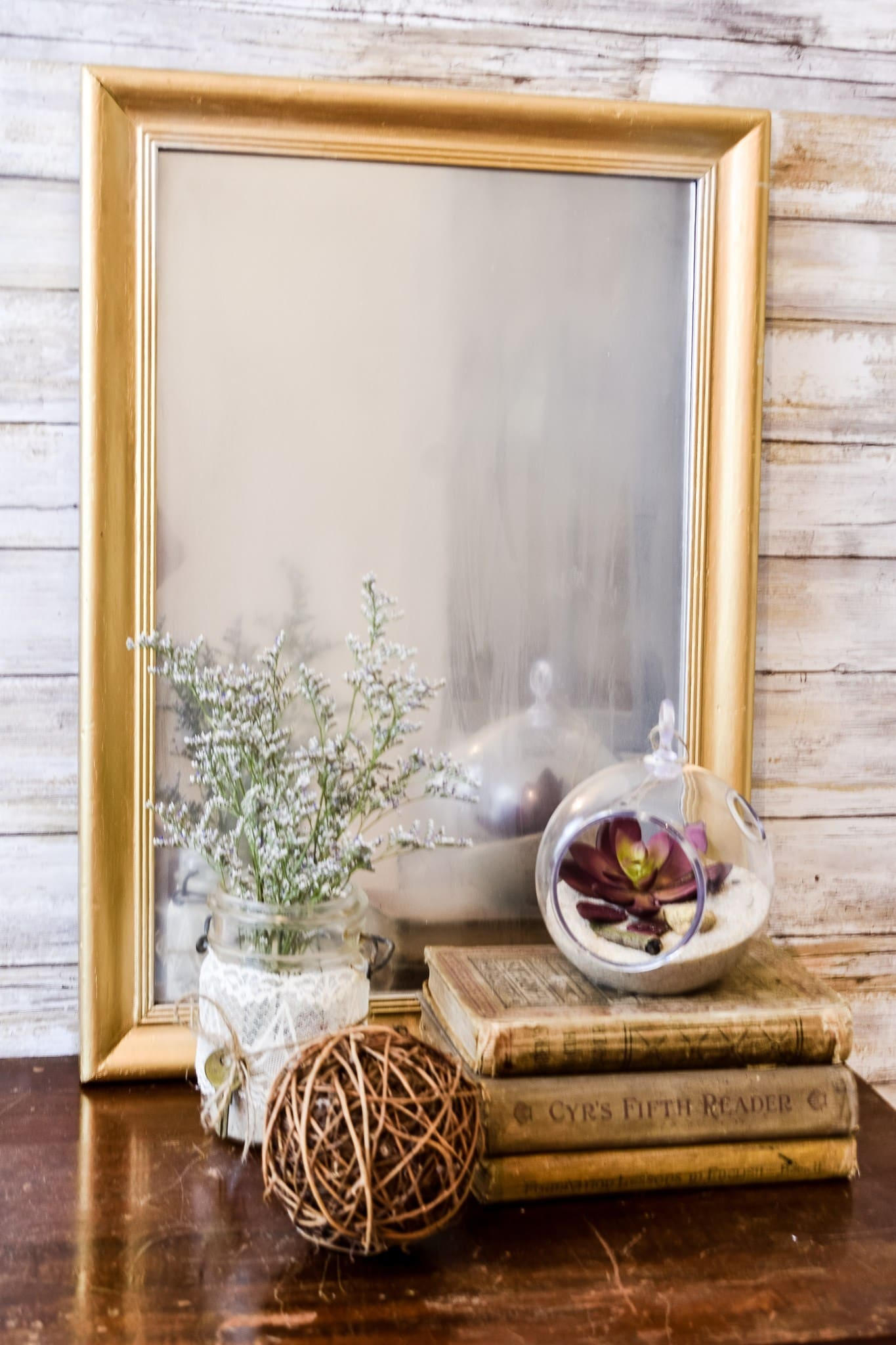 DIY frosted mirror tutorial - Zucchini Sisters
