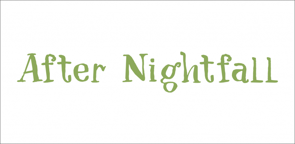 After Nightfall free fall font