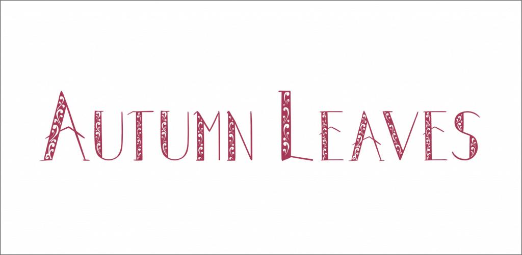 Autumn Leaves font