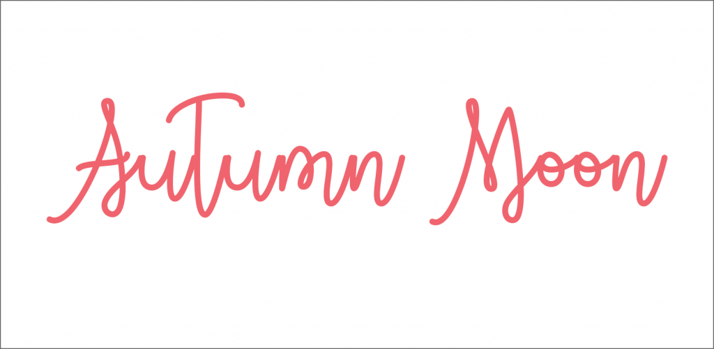 Autumn moon free font for fall