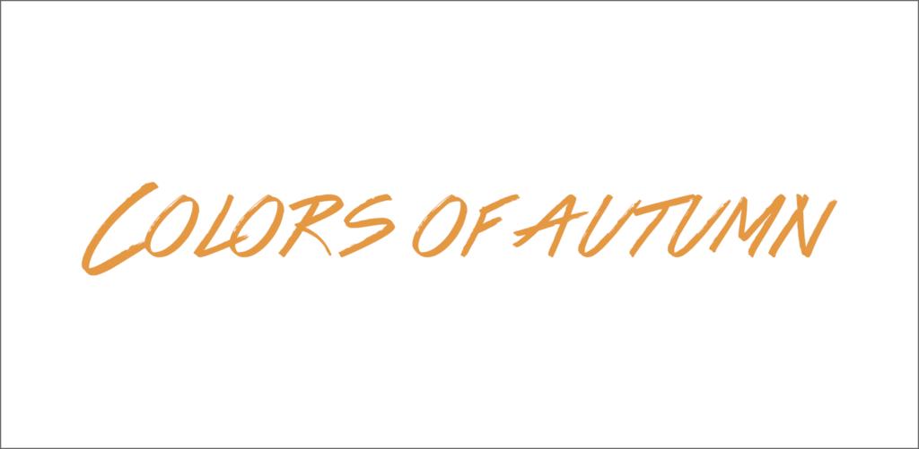 Colors of autumn font