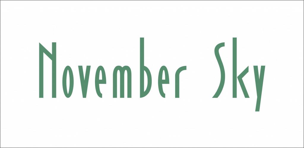 November Sky font