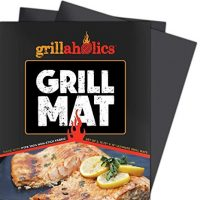 Grillaholics Grill Mat - Set of 2 Heavy Duty BBQ Grill Mats