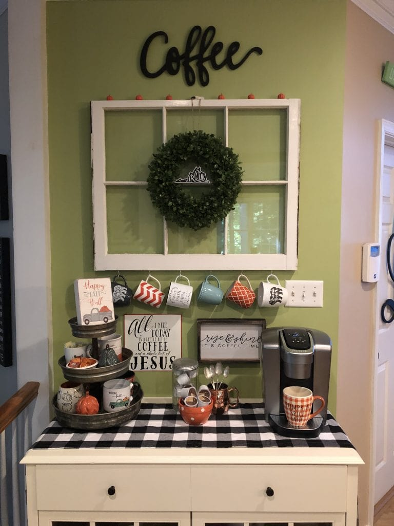 Coffee station for fall with A Southern Inspired Life