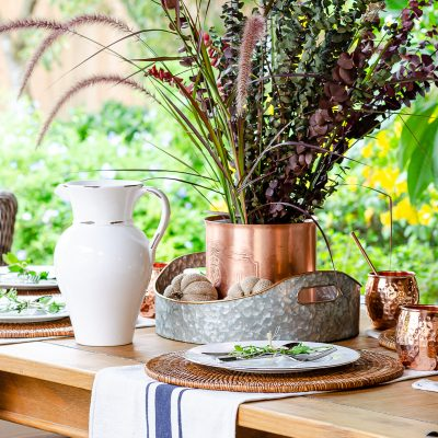 Simple Fall Outdoor Table Decor