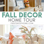 Fall home tour with decorating tips for living room, dining room and breakfast area
