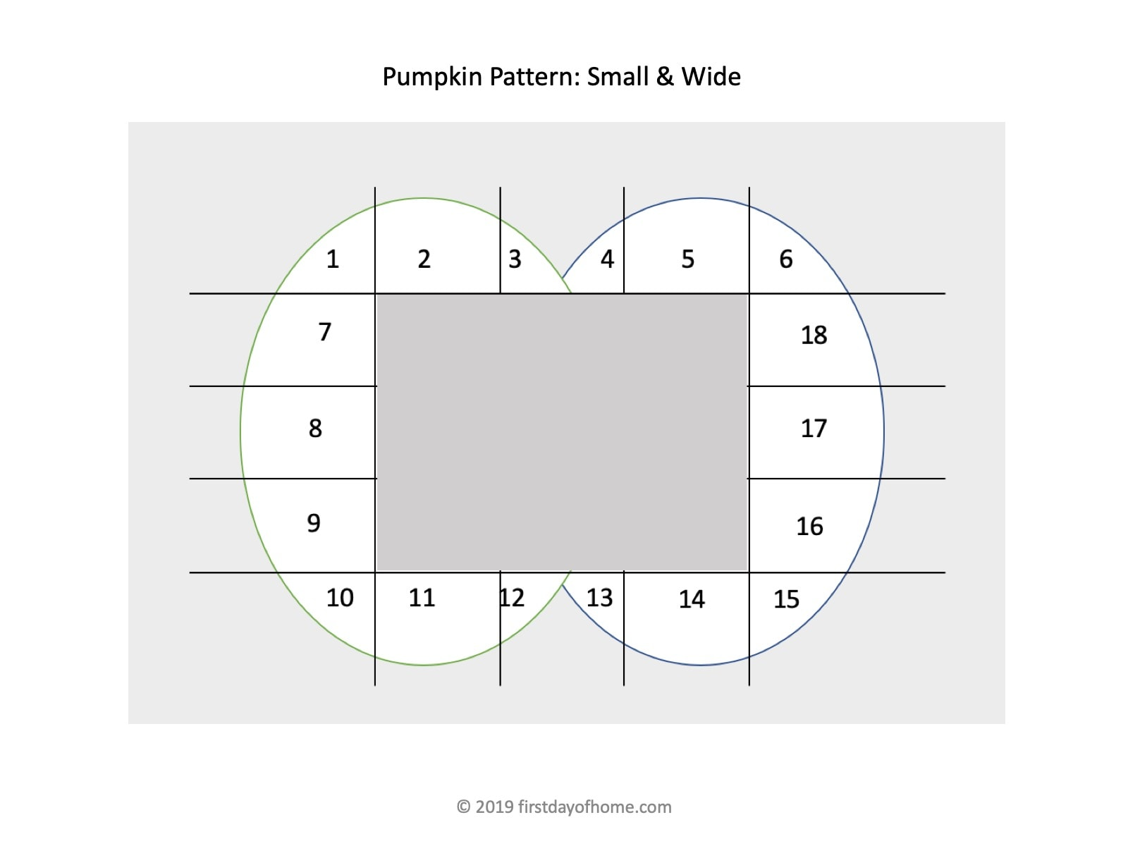 Pattern for tracing wooden pumpkins