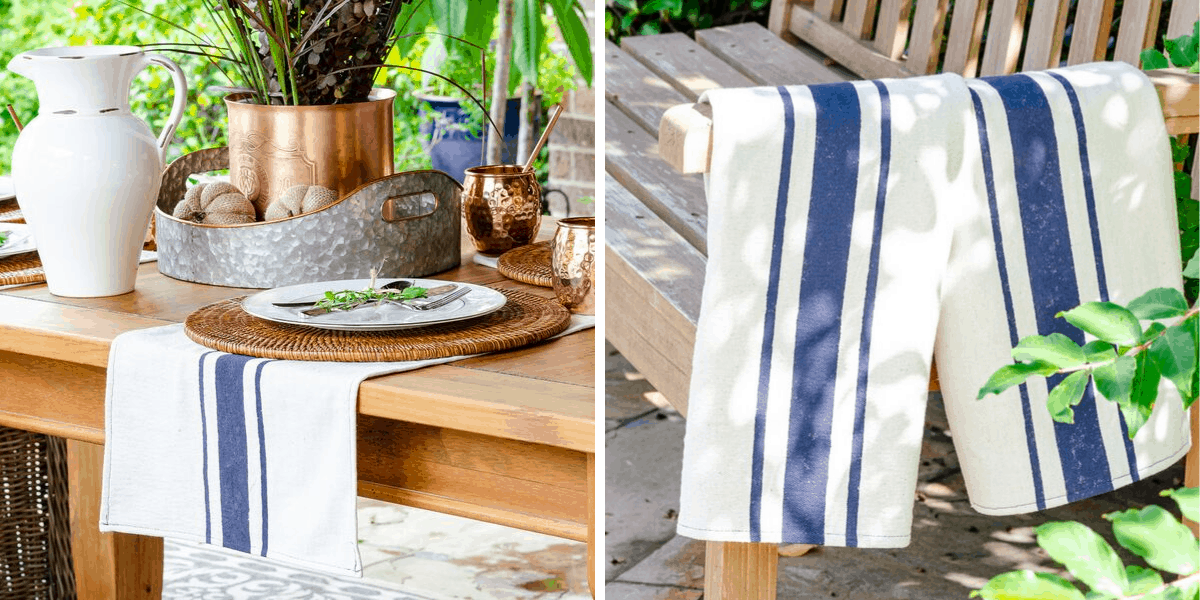 DIY flour sack dish towels