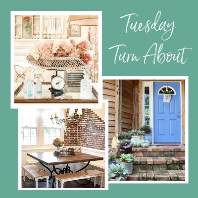 Tuesday Turn About 18: Fall Porches, Florals and DIYs