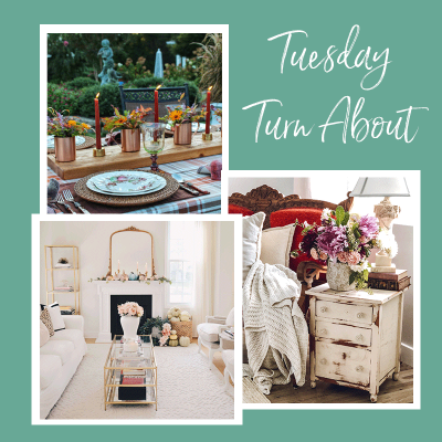 Tuesday Turn About 17 featured fall decor and tablescapes