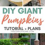 Wood pumpkins for yard decorations