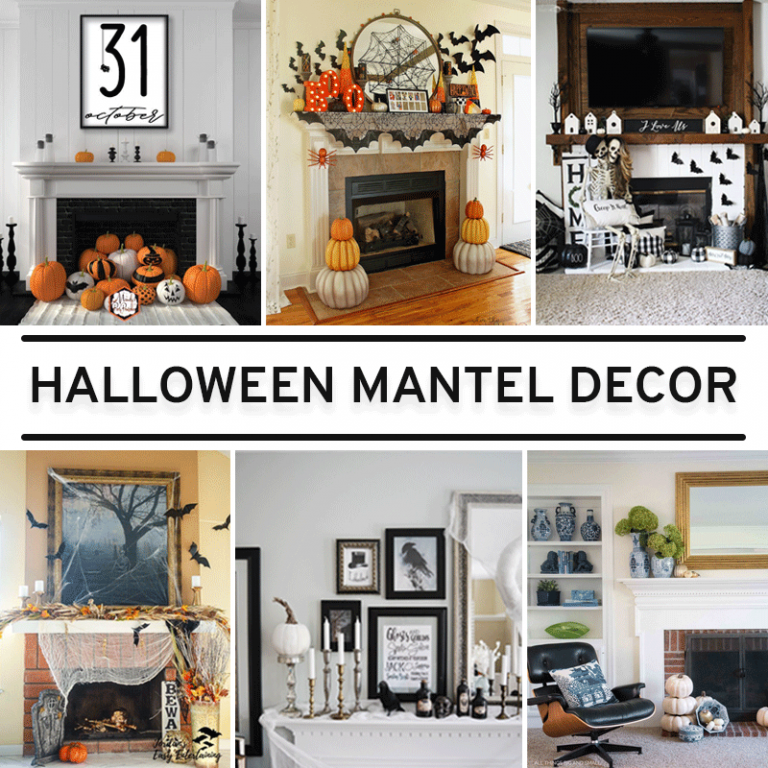 The Year's Best Spooky & Elegant Halloween Mantel Ideas