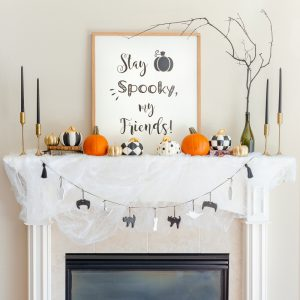 Great Halloween Mantel Decorations To Make in a Weekend