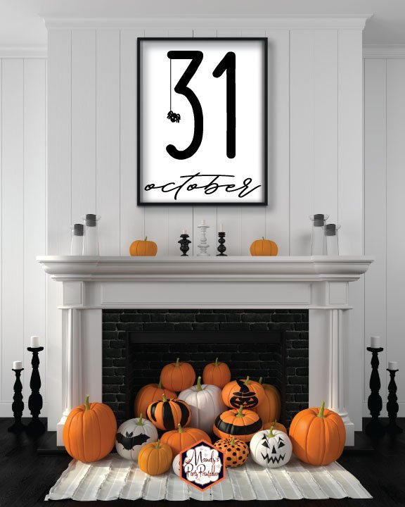 October 31 Halloween printable sign