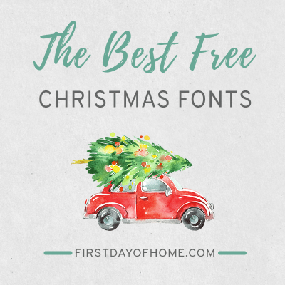 Free Christmas fonts to download for Word and other applications