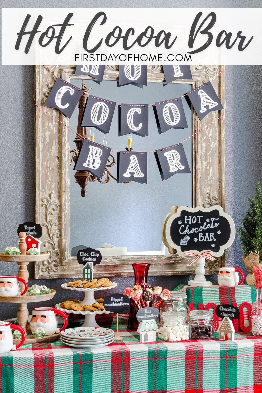 Hot cocoa bar ideas for the holidays