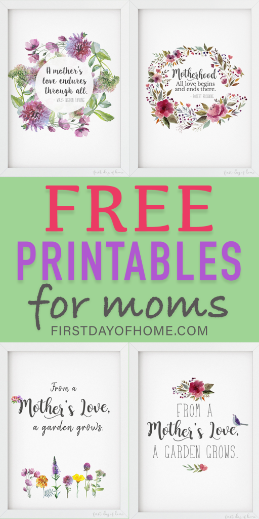 Free printables with quotes about motherhood for moms