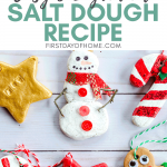 Easy salt dough ornament recipe with 3 ingredients for making DIY Christmas ornaments