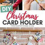 DIY hanging Christmas card holder